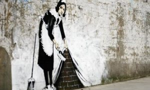 Banksy Sweeping It Under the Carpet painting